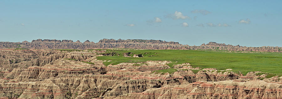 Badlands Panorama by Nancy Landry