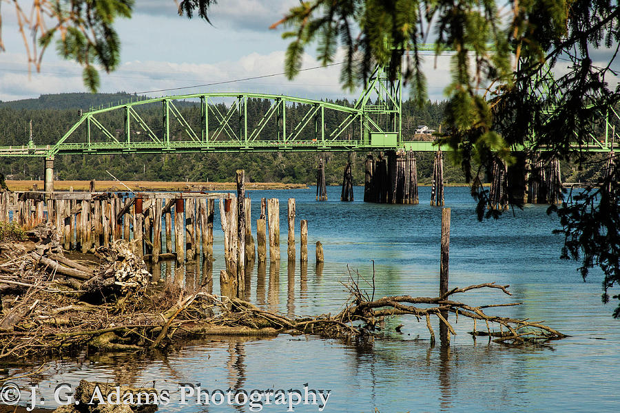 Bridge Photograph - Bandon Drawbridge by Jim Adams