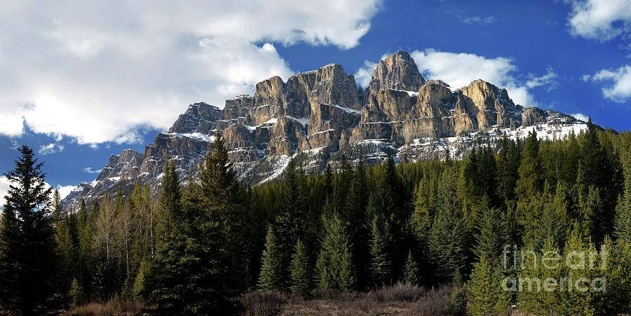 Castle Mountain Photograph - Banff - Castle Mountain by Terry Elniski