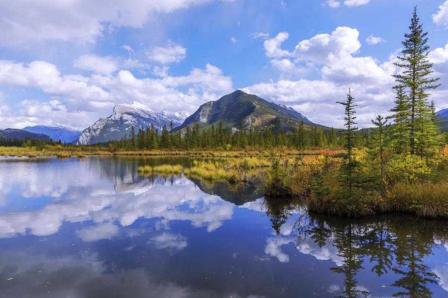 Banff Photograph - Banff Reflection by Chad Dutson