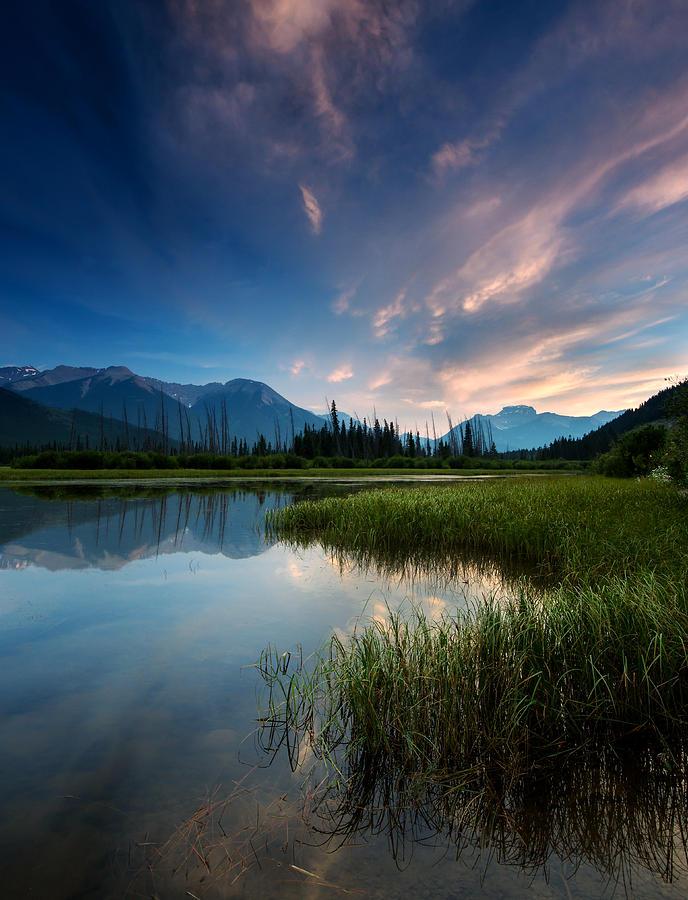 Banff Sunset Photograph