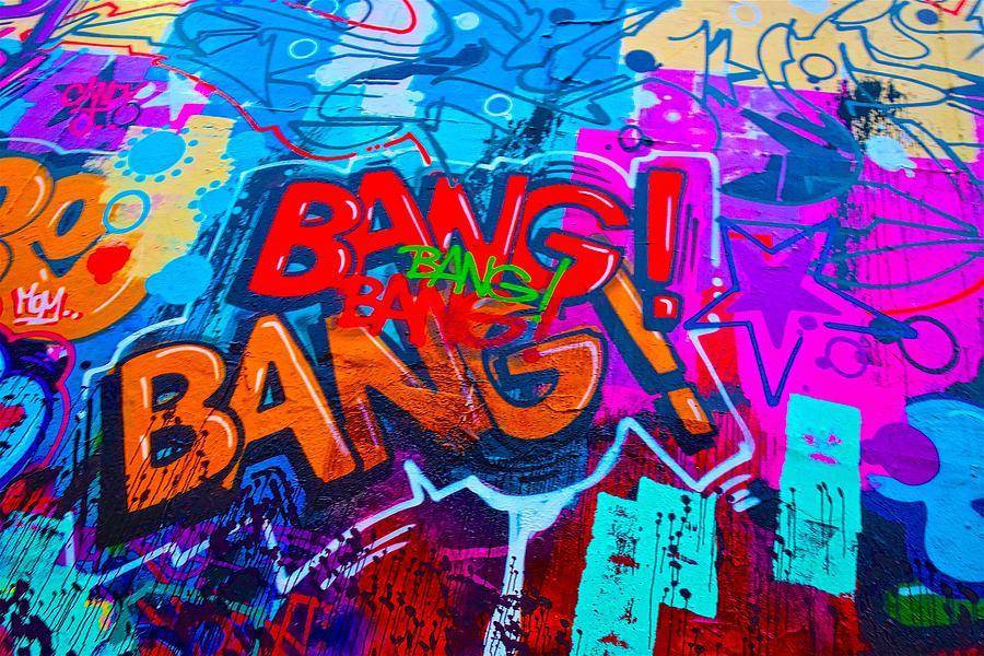 East Village Painting - Bang Graffiti Nyc 2014 by Joan Reese