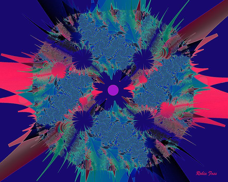 Fractal Digital Art - Bang by Robin Foss