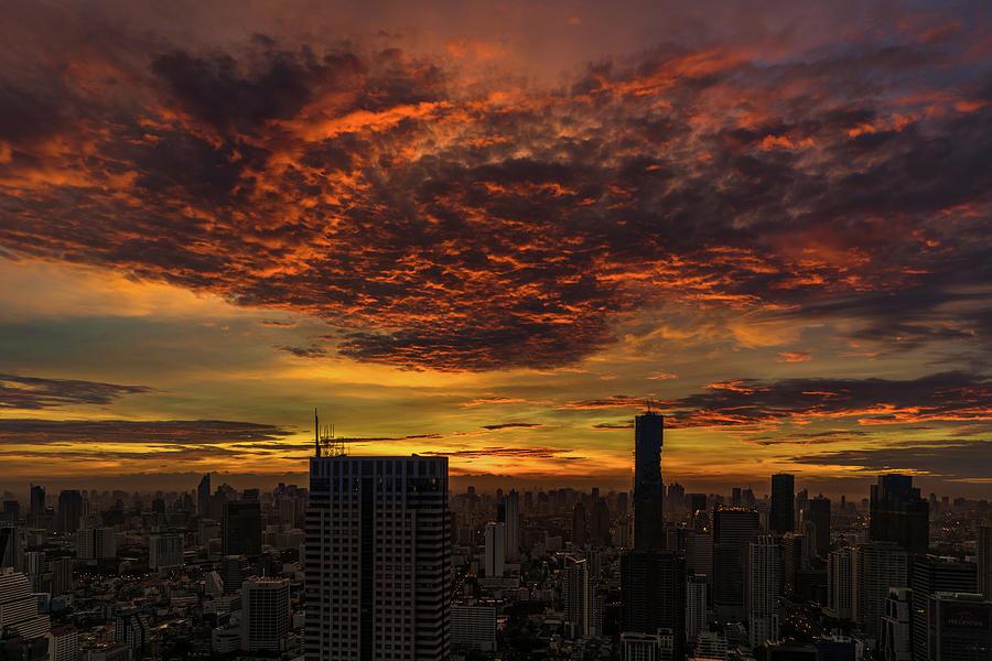 Bangkok Photograph - Bangkok Sunrise by Edward Nowak