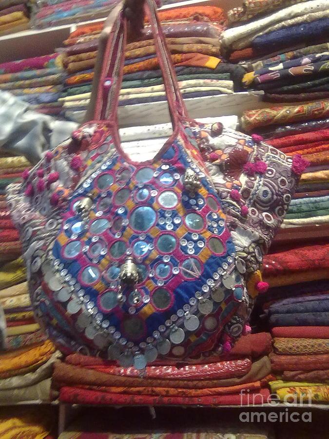 Old Bag Tapestry - Textile - Banjara Patchwork Bag by Dinesh Rathi