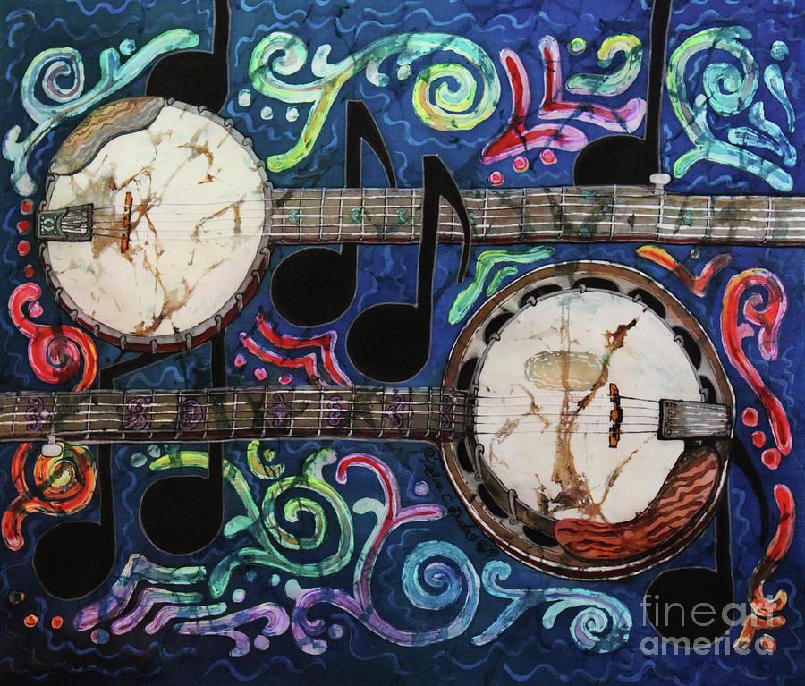 Banjo Painting - Banjos by Sue Duda