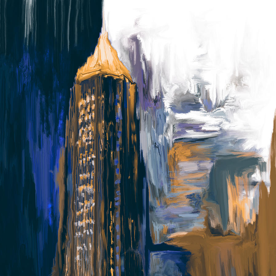 Bank Of America Plaza Painting - Bank Of America Plaza 230 3  by Mawra Tahreem