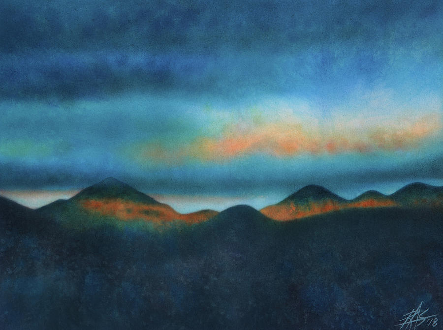 Landscape Painting - Bank Of Passing Clouds by Robin Street-Morris