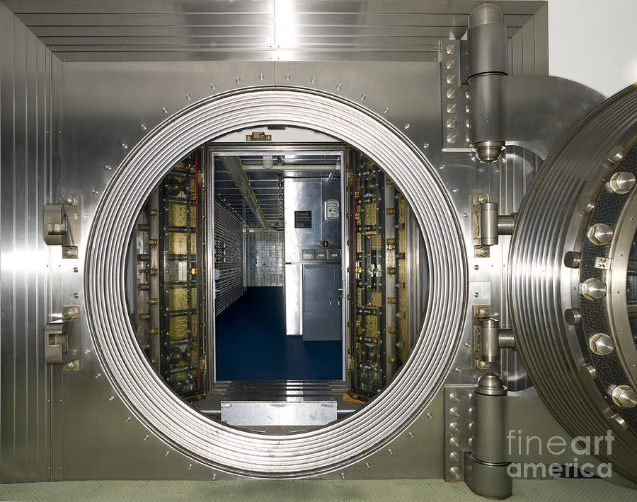 Architectural Photograph - Bank Vault Interior by Adam Crowley