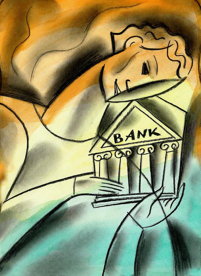Banking Painting by Leon Zernitsky