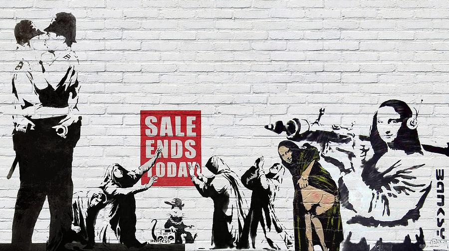 Banksy Photograph - Banksy - Saints and Sinners   by Serge Averbukh