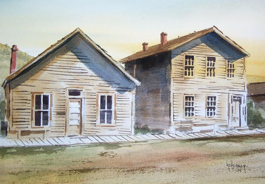 Ghost Town Painting - Bannack Ghost Town Montana by Kevin Heaney