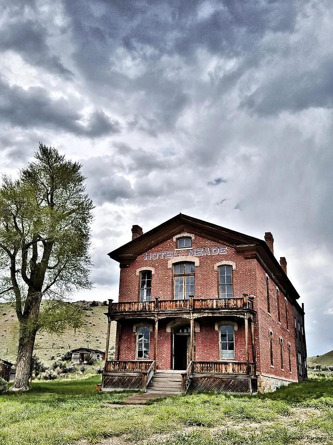 Ghost Town Digital Art - Bannack Mt. 7 by Susan Kinney
