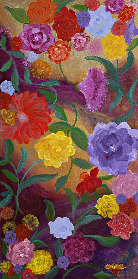 Flowers Painting - Banner Blossoms by Sabra Chili