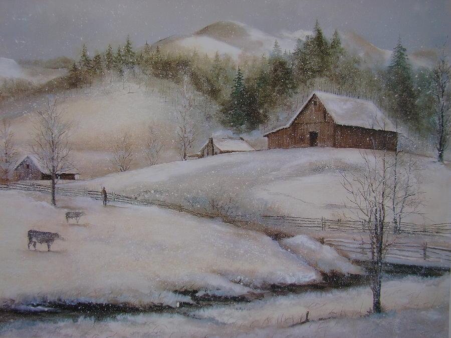 Banner Elk Painting - Banner Elk Winter by Charles Roy Smith