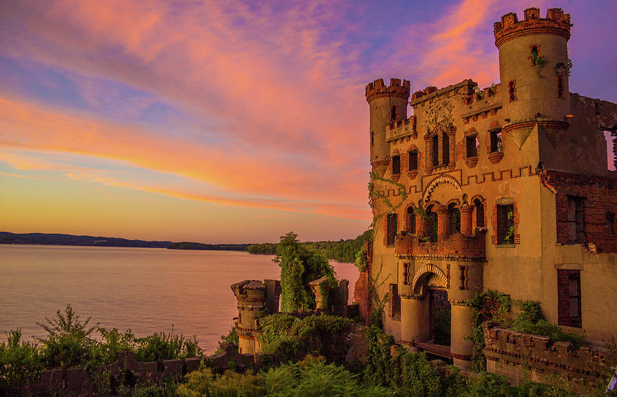 Bannerman Castle Sunset by John Morzen