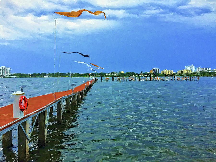 Marina Grande Photograph - Banners Flying by Alice Gipson