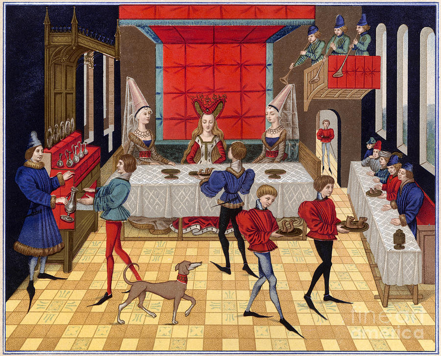 15th Century Photograph - Banquet, 15th Century by Granger