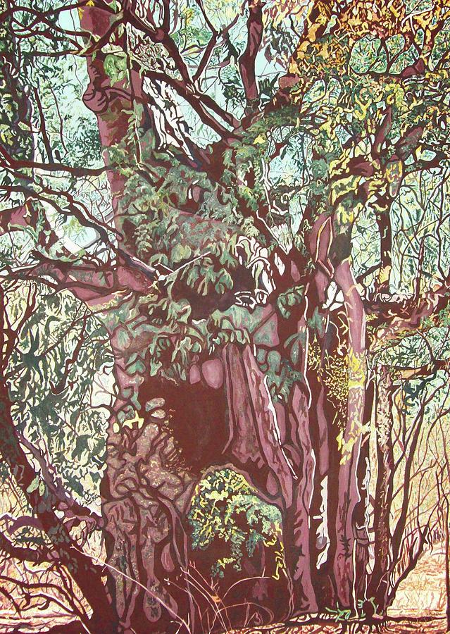 Baoba In Foliage Painting by Valentine Magutsa