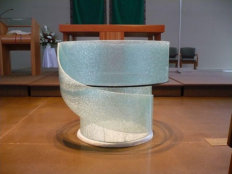 Sculpture Glass Art - Baptismal Font by Rick Silas
