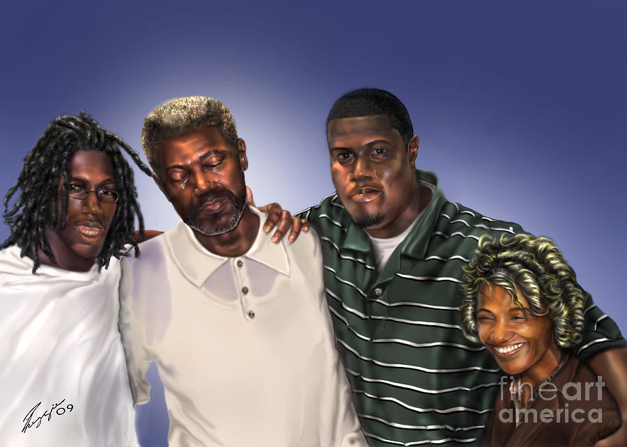 Family Painting Painting - Baptized In His Glory by Reggie Duffie