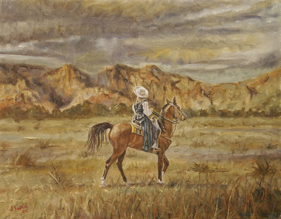 Cowboy Painting - Baquera by Jason  Swain