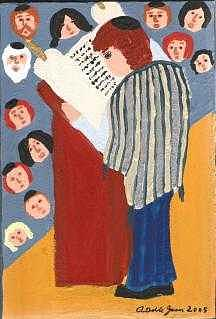 Bar Mitzvah  Painting by Adelle John