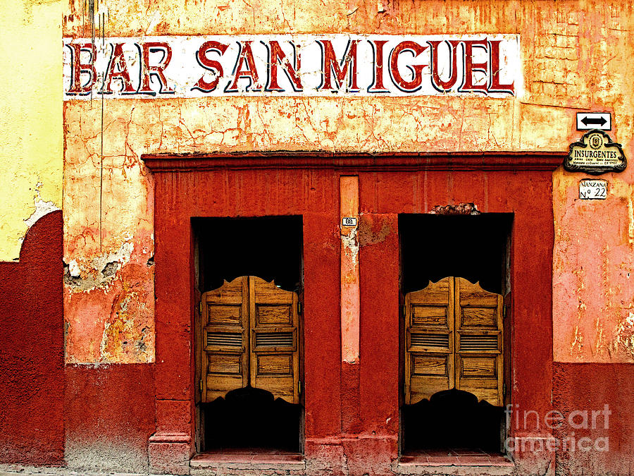 Darian Day Photograph - Bar San Miguel by Mexicolors Art Photography