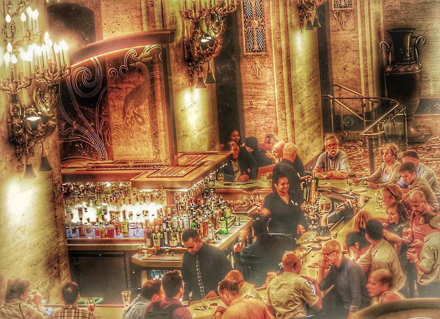 Bar Photograph - Bar Scene by Marianne Dow
