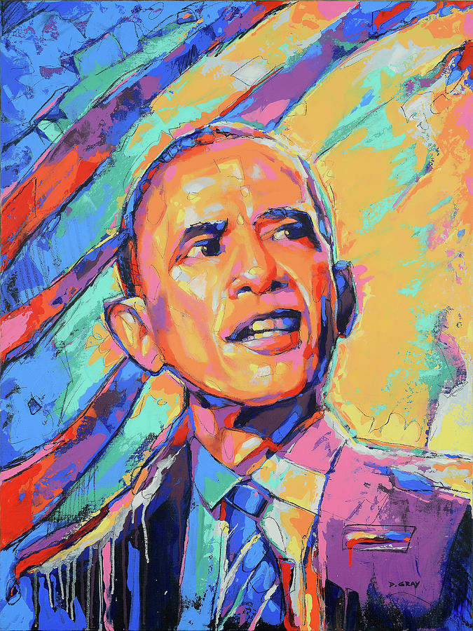 Barack Obama in Color by Damon Gray