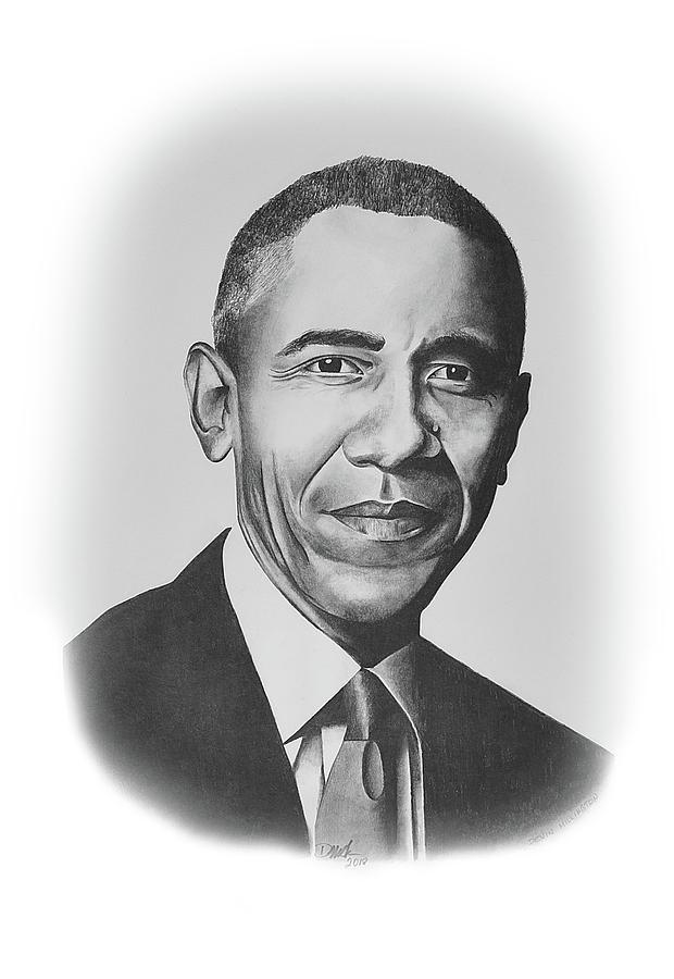 Potus Drawing - Barack Obama by Devin Millington