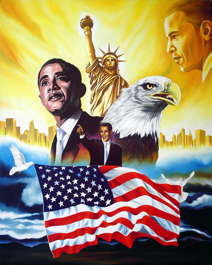 Barack Obama Painting - Barack Obama by Hector Monroy