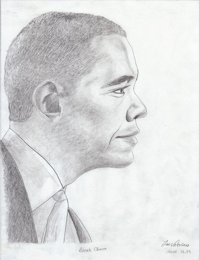 Barak Obama Drawing - Barak Obama by M Valeriano