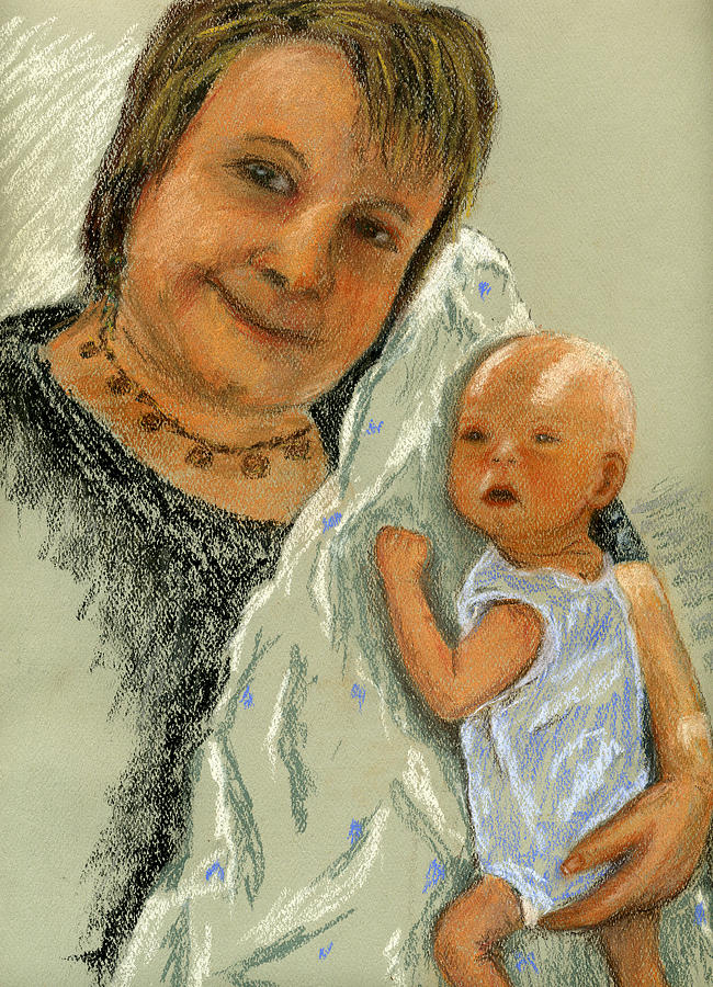 Grandmother Painting - Barb And Jacob by Marina Garrison