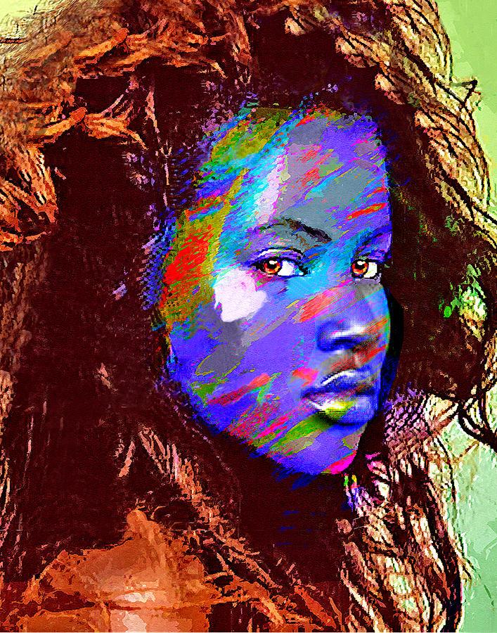Portrait Drawing - Barbados Woman by Philip Gresham
