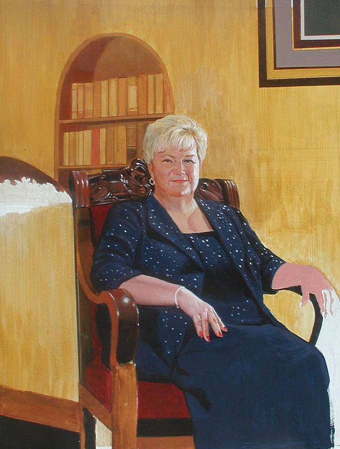 Barbara Smith Painting by Harold Shull