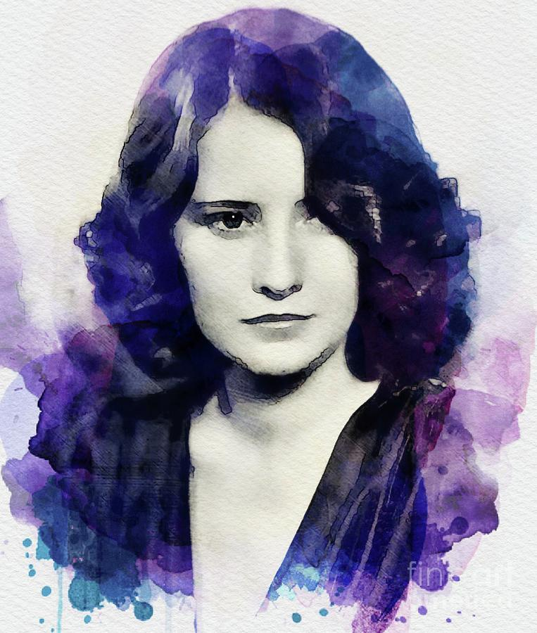 Barbara Stanwyck, Vintage Actress Digital Art