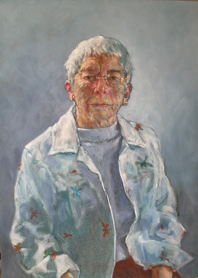 Blue Painting - Barbara Sutherland by Trudi Smith