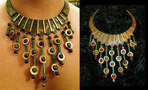Brass Jewelry - Barbarian Torque Necklace by Mitzi Reynolds
