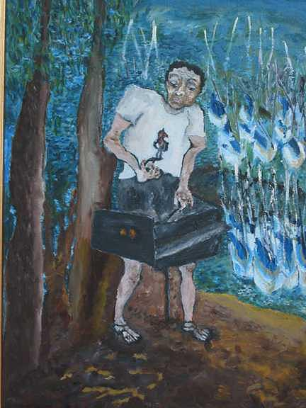Barbecue Painting by Padma Prasad