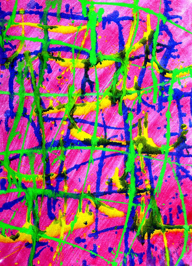 Abstract Painting - Barbed by Lourdes  SIMON