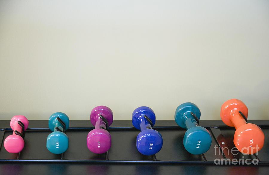 6 Photograph - Barbells by Andersen Ross