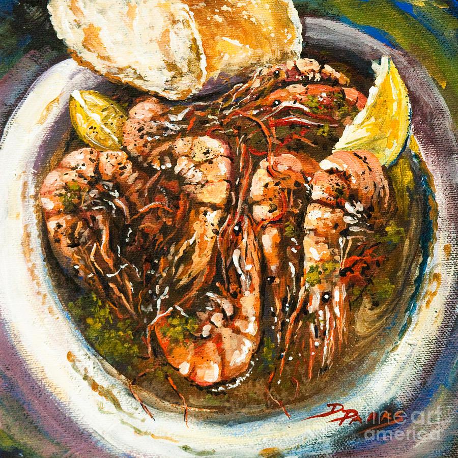 Shrimp Painting - Barbequed Shrimp by Dianne Parks