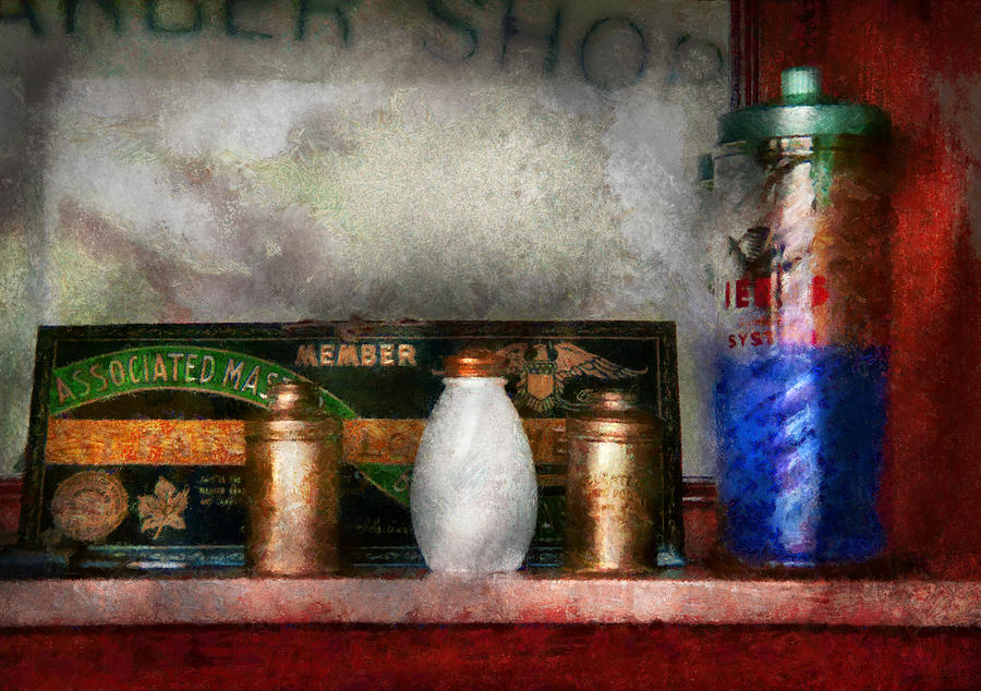 Hdr Photograph - Barber - Things You Stare At  by Mike Savad