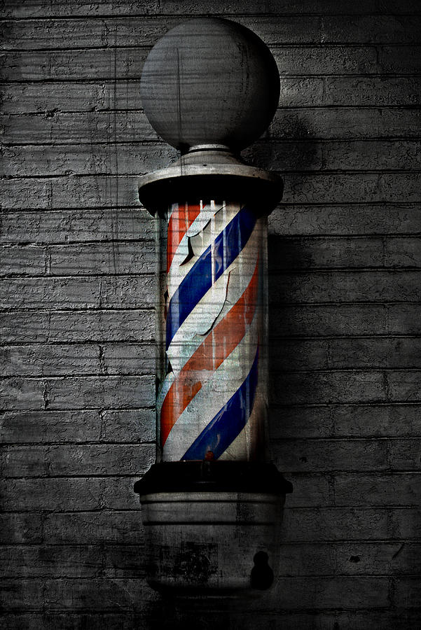 Below Photograph - Barber Pole Blues  by Jerry Cordeiro