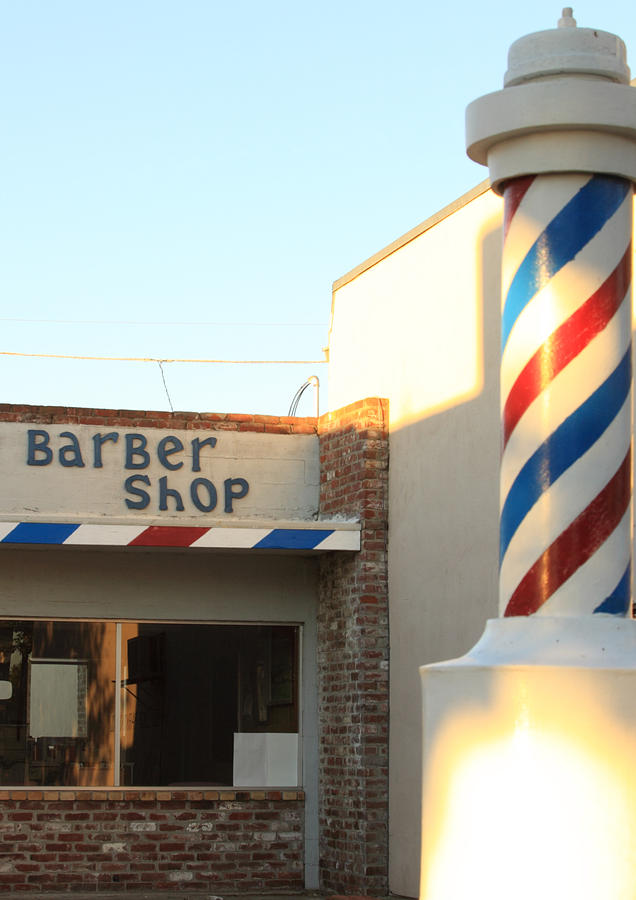Barber Pole Photograph - Barber Shop by Troy Montemayor
