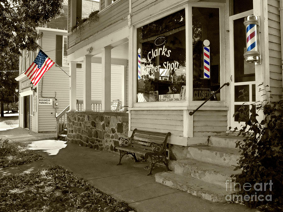 Clarks Barber Shop with Color by Tom Brickhouse