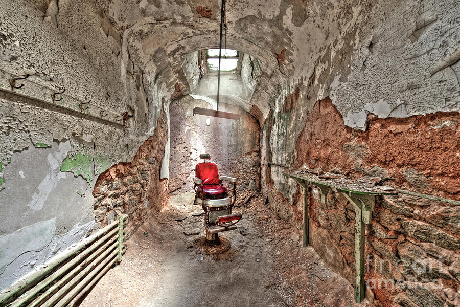Barbers Chair Eastern State Penitentiary by Anthony Sacco
