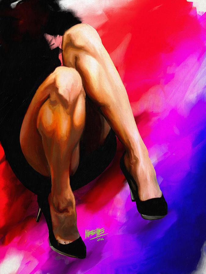 Legs Painting - Barbie by Dillan Weems