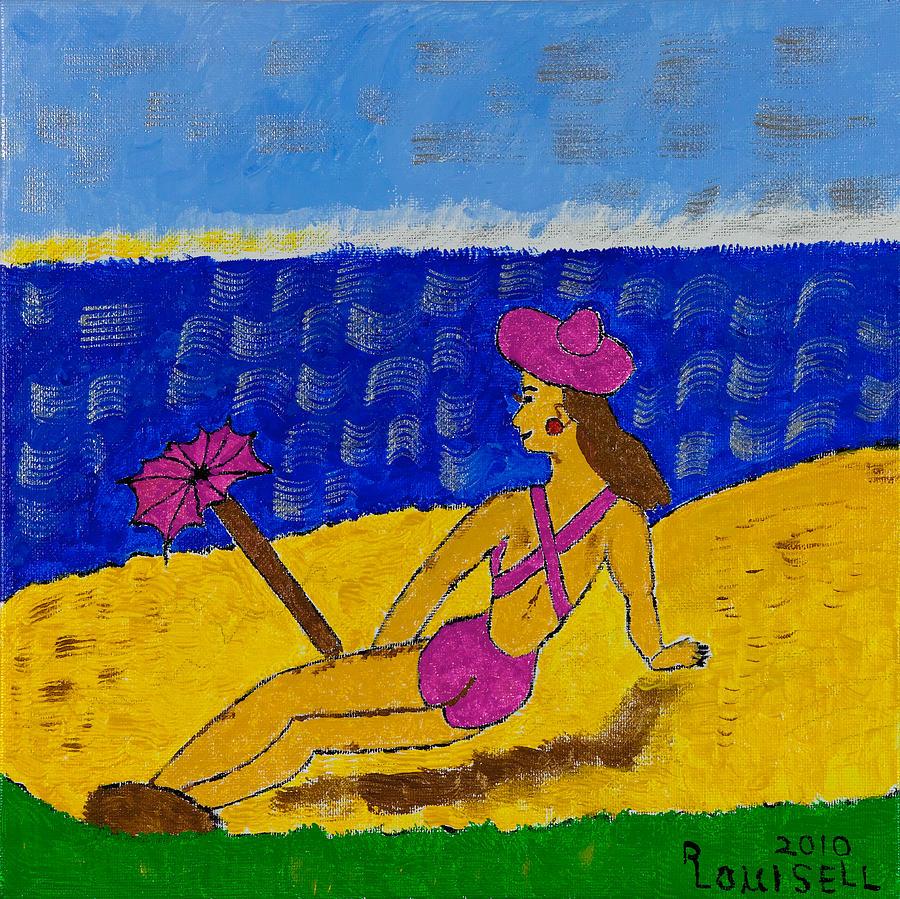 Beach Painting - Barbs Beach Escape by Robyn Louisell